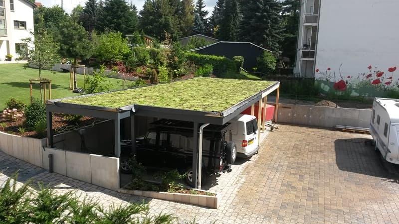 Trapezblechdach - Dachbegrunungtotal